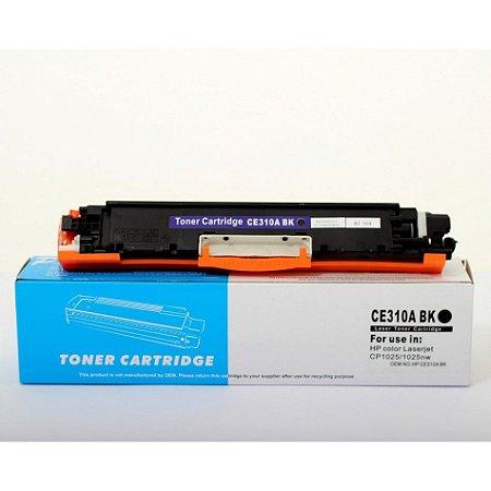 Toner Compatível HP CE310A 310A 126A Preto | CP1020 CP1020WN CP1025 M175 M175A | Premium Quality 1k