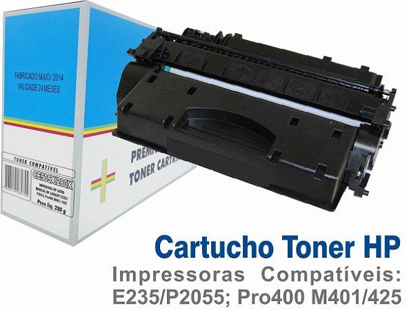 Toner Compatível HP CE505X-280X- Impressoras HP Laser E235 - P2055