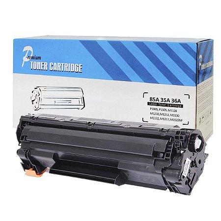 Toner Compatível/ 1005 Hp Pr 1.5mpp Cb435a Hp 35a