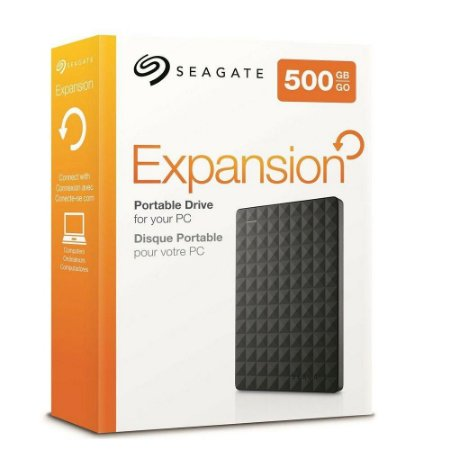 HD Externo 500GB Seagate Expansion STEA500400 USB 3.0 Compacto