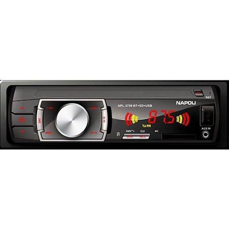 Toca Radio Napoli Npl-3799 Bluetooth - Usb - Cartão Sd - Mp3