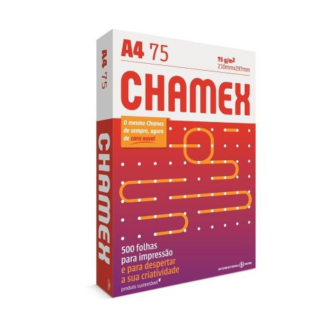 Papel A4 75 Resma 500Fls Chamex