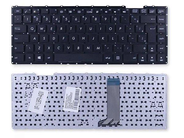 Teclado Notebook Compativel Com Asus D450 Z450la F401e V451 - Br - No Frame
