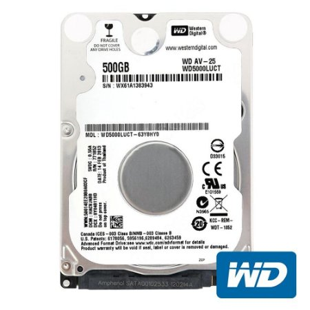 Hd Interno Notebook 500gb Western Digital 5400rpm Wd5000luct