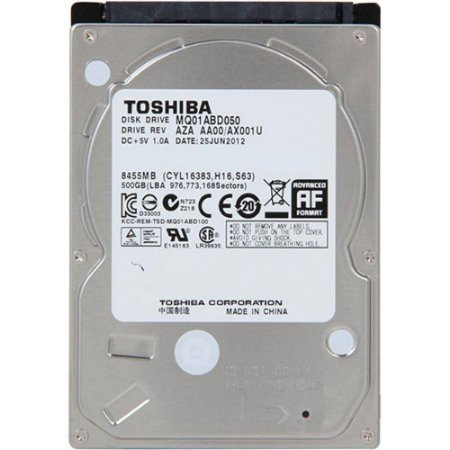 Hd Notebook 500gb Toshiba Mq01abd050 Fab. 2019 5400 Rpm Lacrado