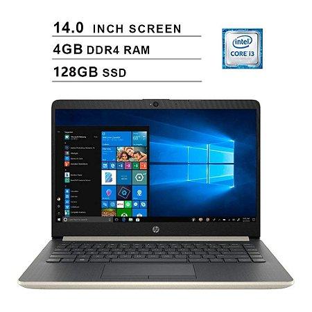 Notebook Hp 14 Dq0011dx Intel Core I3-8145u Memória 4gb Ssd 128gb