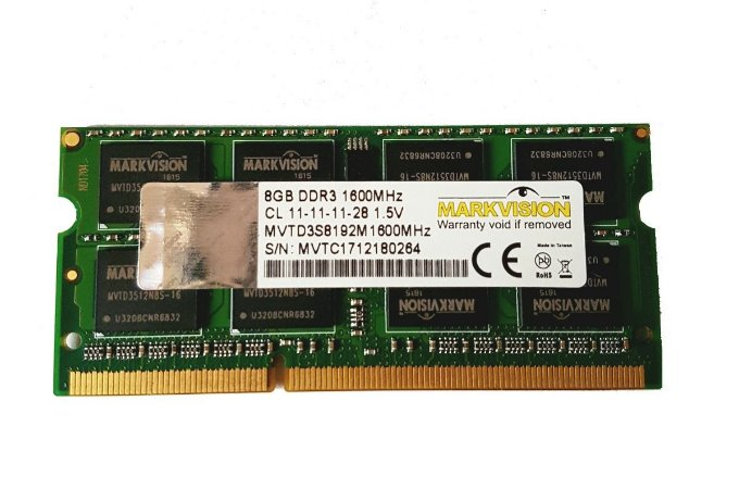 Memória Notebook 8Gb Ddr3 1600 Markvision Mvd38192MSD-A6