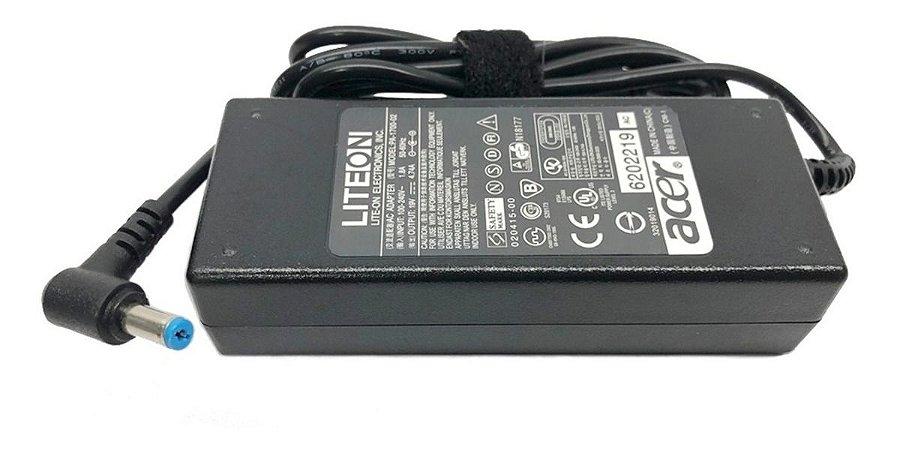 Fonte Notebook Acer 19v 4.7a Mod Pa-1900-05 Plug Azul  (5.5 x 1.7mm)