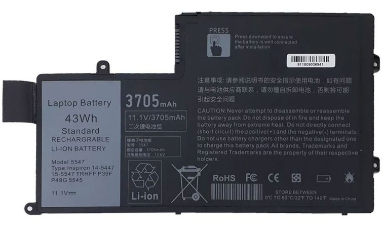 Bateria Notebook Pat N: TRHFF Dell Inspiron 15 5445, 5447, 5448, 5545 N5447 - 11,1 volts 3800 amp