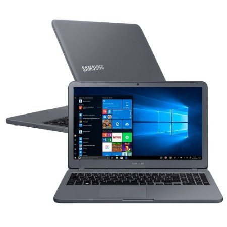 "Notebook Samsung Essentials E30 Intel  Core  i3 7020U 4GB 1TB HD 15.6"" Windows 10 Titanium"