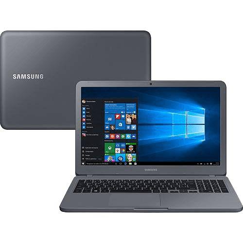 Notebook Essentials E30 Intel Core I3 4GB 1TB LED Full HD 15.6'' W10 Cinza Titânio - Samsung