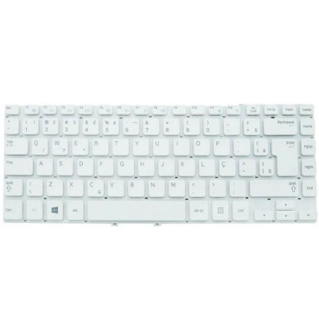 Teclado Notebook Samsung Np270E4E -Pn 9z.N8ysn.01b -Branco - Br - No Frame