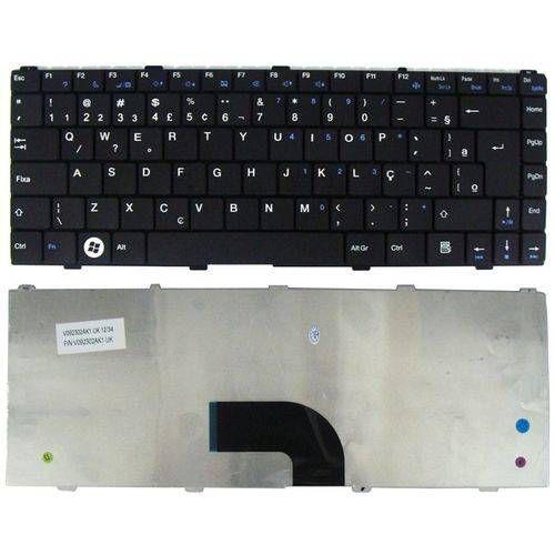 Teclado Notebook Intelbras L1000 PN PK130CF3A44 | Preto ABNT2