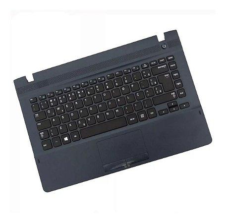 Base com Teclado Notebook Samsung Np270 Np270ESK Azul Marinho
