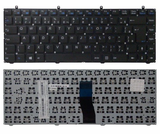 Teclado Notebook Philco Branco Mp 12r78pa 430 P/n 6-80-w5470-330-1- Usd