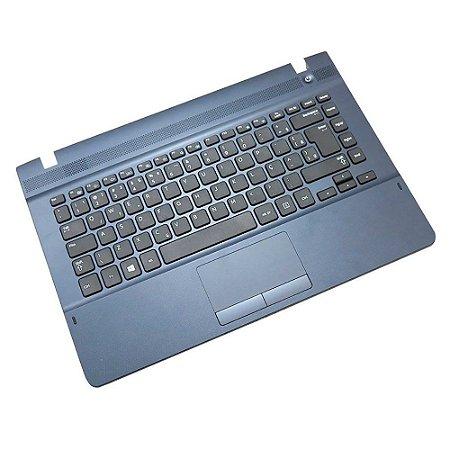 Base com Teclado Notebook Samsung Np270 Np270E4E Azul Marinho-Usd