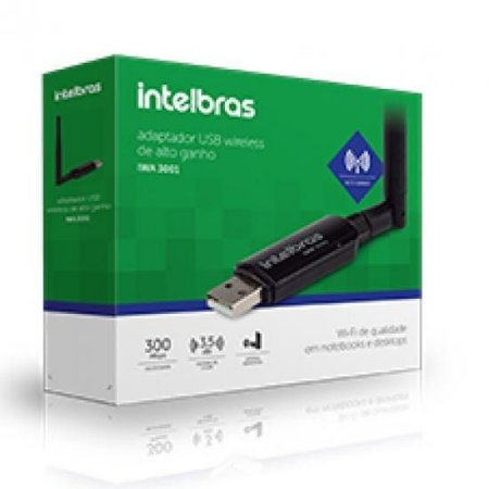 Adaptador Wireless Usb N 300 Mbps 802.11n IWA-3001 Intelbras