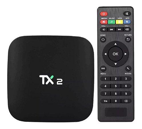 Receptor Tv Box TX2 4k 3Gb Memória 32Gb Android 8.1