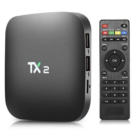 Receptor Tv Box TX2 4k 2gb Memória 16gb Armazenamento -Android