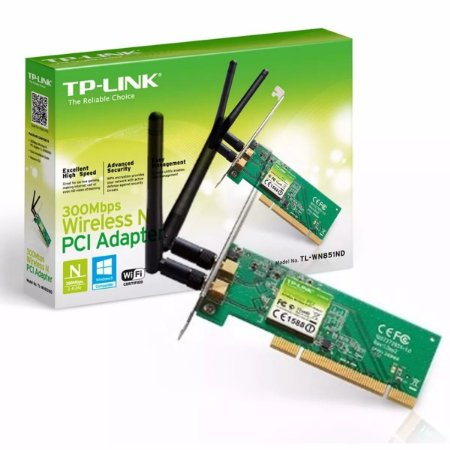 Placa de Rede Wireless PCI - TP-Link TL-WN851ND 300Mbps