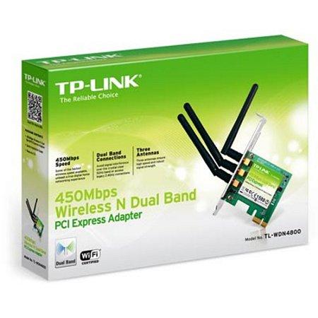 Placa de Rede Wireless PCI-E Dual Band N900 TL-WDN4800 TP-Link