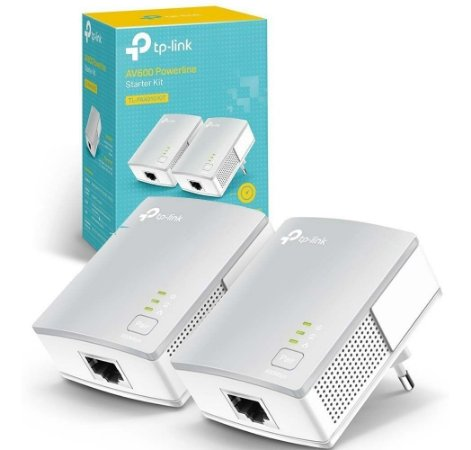 Kit Repetidor Extensor Powerline Tp-link Tl-pa4010 Kit Av600 Starter Versão 2.0