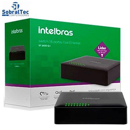 Switch 16 portas Fast Ethernet SF 1600 Q+ Poe Passivo Intelbras
