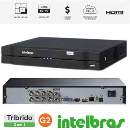 Dvr Gravador Digital de Vídeo Multi HD | MHDX 1004 | 4 Canais Intelbras- S/hd