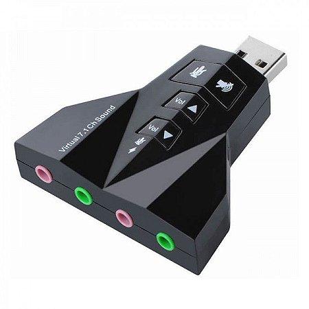 Adaptador de Som Usb 7.1 Channel Sound Xtrad Xt-2031