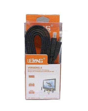 Cabo HDMI Version1.4  LE-6614-10m 10 Metros Retratil - LELONG