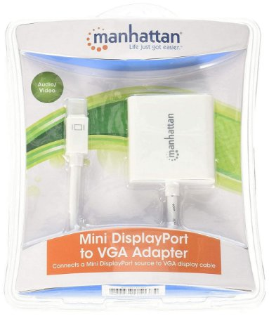 Adaptador Mini Displayport para VGA - Branco- Manhattan