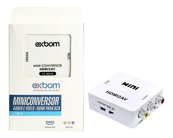 Mini Conversor Conversor Áudio Vga Para Av Rca Adaptador Video 1080p