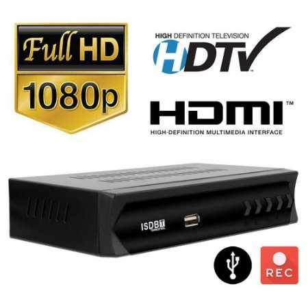 Receptor Conversor TV Sinal Digital ISDB-T Set Top Box Full HD USB