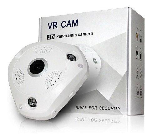Camera Ip 360 Panoramica Olho De Peixe Wifi Hd 1,3 Mp