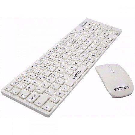 Kit Teclado e Mouse Sem Fio Exbom BKS1000