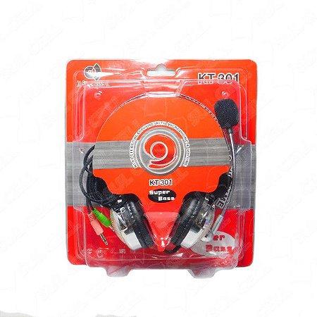 Headset Super Bass KT-301 Com Microfone