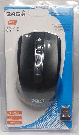 Mouse Wirelles XLS Preto 2.4Ghz 1200DPI