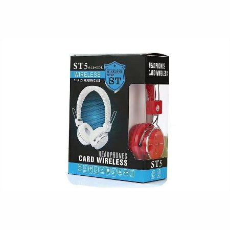 Headphone Wireless 4.1 Estereo ST5 Com Entrada Para Cartão