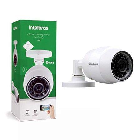 Camera de Seguranca Intelbras Wi Fi HD iC5 Mibo IP 66 Resistente à ChuvaInfravermelho 30 Metros