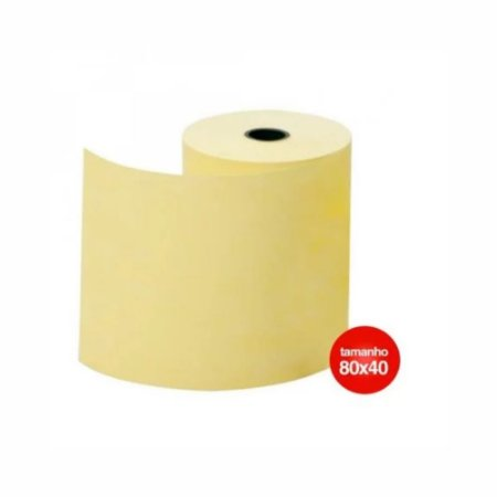 Bobina Termica Amarela 80mm x 40m 1 Via.