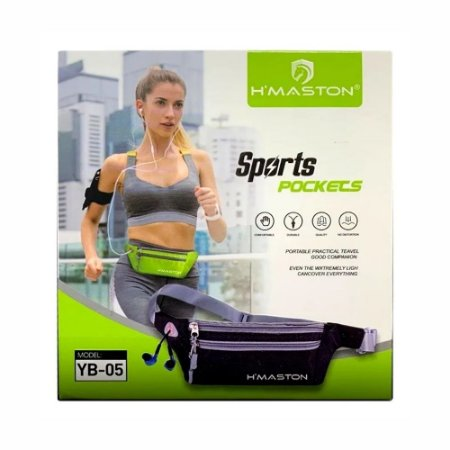 Cinto Impermeável H'maston Sports Pocket Yb-05 Para Celular Corrida