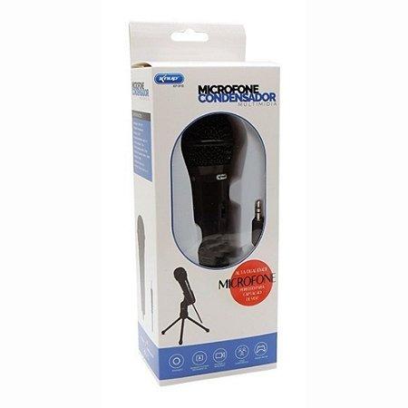 Microfone Condensador Multimídia Knup Kp-918 De Alta Qualidade Com Tripé
