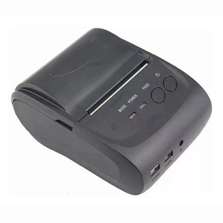 Impressora Térmica Mini Portátil Bluetooth Luogao M58 Impressão De 48mm