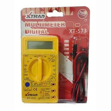 Multímetro Digital Voltagem Tensão Continua e Alternada AC DC Xtrad XT-573