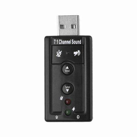 Placa De Som Usb Externa 7.1 Virtual Channel Sound Para Pc e Notebook