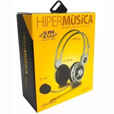 Headset Super Bass Fone De Ouvido Com Microfone HM-610MV