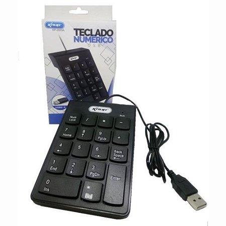 Teclado Numérico Usb Ideal para Notebooks Knup KP-2003A