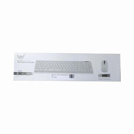 Kit Mouse e Teclado Wireless Altomex A-601