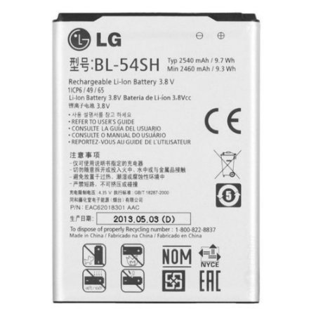 Bateria Para Celular LG BL-54SH 3.8V 5240 mAh/9.7Wh