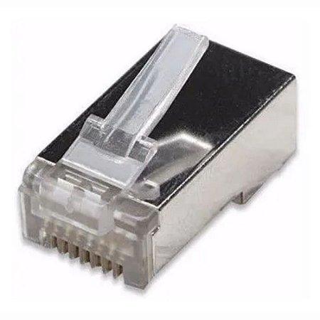 Plug Conector Rj-45 Blindado Metálico